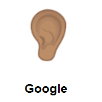Ear: Medium Skin Tone on Google Android