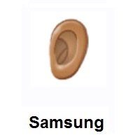 Ear: Medium Skin Tone on Samsung