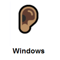 Ear: Medium Skin Tone on Microsoft Windows
