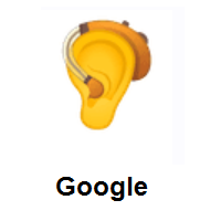 Ear With Hearing Aid on Google Android