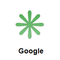 Eight Spoked Asterisk on Google Android