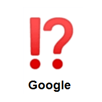 Exclamation Question Mark on Google Android