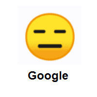 Expressionless Face on Google Android