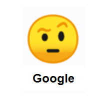 Face With Raised Eyebrow on Google Android