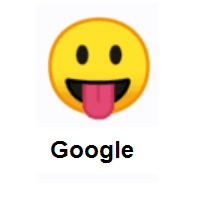 Face with Tongue on Google Android