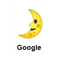 First Quarter Moon Face on Google Android