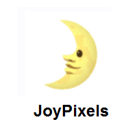 First Quarter Moon Face on JoyPixels