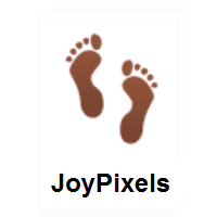 Footprints on JoyPixels