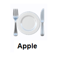 Fork And Knife With Plate on Apple iOS