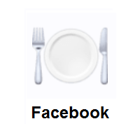 Fork And Knife With Plate on Facebook
