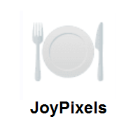Fork And Knife With Plate on JoyPixels
