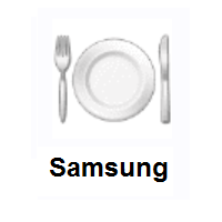 Fork And Knife With Plate on Samsung