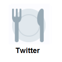 Fork And Knife With Plate on Twitter Twemoji