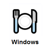 Fork And Knife With Plate on Microsoft Windows