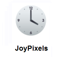 Four O'clock on JoyPixels