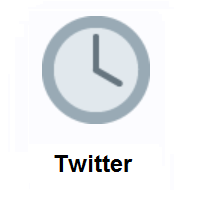 Four O'clock on Twitter Twemoji