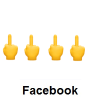 Four Times Middle Finger on Facebook