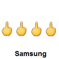 Four Times Middle Finger on Samsung
