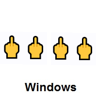 Four Times Middle Finger on Microsoft Windows
