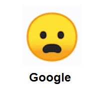 Irritating: Frowning Face with Open Mouth on Google Android
