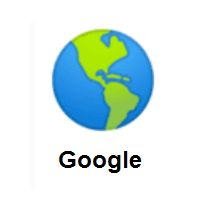 Globe Showing Americas on Google Android
