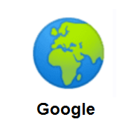 Globe Showing Europe-Africa on Google Android