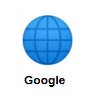 Globe with Meridians on Google Android