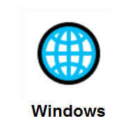 Globe with Meridians on Microsoft Windows