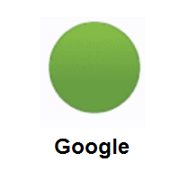 Green Circle on Google Android
