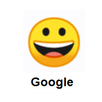 Grinning Face on Google Android