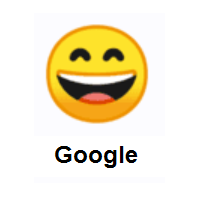Happy Face: Grinning Face With Smiling Eyes on Google Android