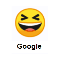 Grinning Squinting Face on Google Android
