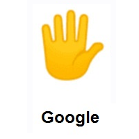 Hand With Fingers Splayed on Google Android
