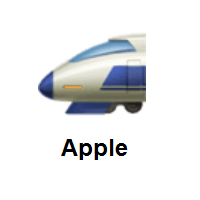 High-Speed Train With Bullet Nose on Apple iOS