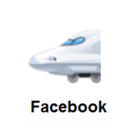 High-Speed Train With Bullet Nose on Facebook