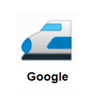 High-Speed Train With Bullet Nose on Google Android