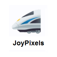 High-Speed Train With Bullet Nose on JoyPixels