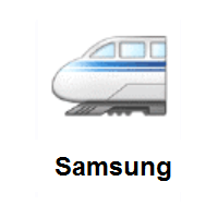 High-Speed Train With Bullet Nose on Samsung