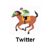 Horse Racing on Twitter Twemoji