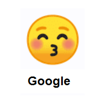 Kissing Face with Closed Eyes on Google Android