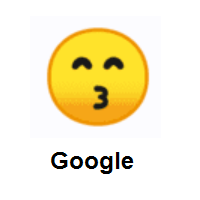 Wife Of Devil Emoji: Kissing Face with Smiling Eyes on Google Android
