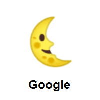 Last Quarter Moon Face on Google Android