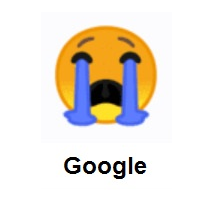 Sad Face: Loudly Crying Face on Google Android