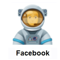 Man Astronaut on Facebook