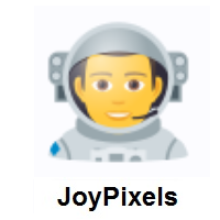 Man Astronaut on JoyPixels