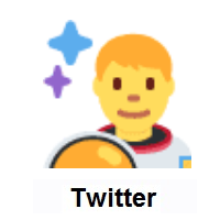 Man Astronaut on Twitter Twemoji