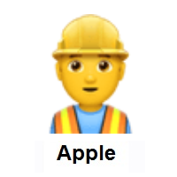 Man Construction Worker on Apple iOS