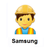 Man Construction Worker on Samsung