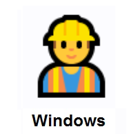 Man Construction Worker on Microsoft Windows