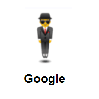 Man in Suit Levitating on Google Android
